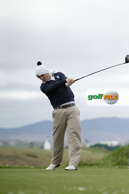 Robbie Pierse (Grange) during round 1 of The West of Ireland Amateur Open in Co. Sligo Golf Club on Friday 18th April 2014.<br /> Picture:  Thos Caffrey / www.golffile.ie