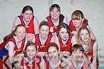 LIGHT UP: The Athea Blazers who lit up the crowd at the St Mary's Annual Christmas Basketball blitz in St John's Hall, Castleisland on Saturday were front l-r: Samantha Ahern, Tracy Mulvihill and Stephanie Ahern. Back l-r: Sarah McCarthy, Margaret O'Mahony, Ciara O'Connor, Bridget Moore, Claire Murphy, Nicola Murphy and Fiona Morrissey.   Copyright Kerry's Eye 2008
