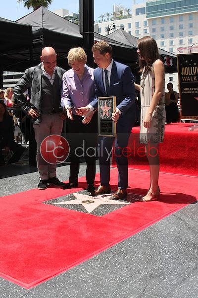 Michael Symon, Brooke Johnson, Bobby Flay, Sophie Flay at the Bobby Flay Hollywood Walk of Fame Ceremony, Hollywood, CA 06-02-15<br /> David Edwards/DailyCeleb.com 818-249-4998