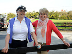 Frances McNally and Monica Waters pictured at the captain's drive in at ardee golf club. Photo: Colin Bell/pressphotos.ie