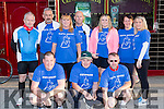 the hard working crew at the Castleisland The Longest Day challenge on Saturday front row l-rL kevin Moran, Seanie Hickey, DD Kerins. Back row: Dan McCarthy, Jerry and Georgina Falvey, Denny Greaney, Norma Moran, Eileen greaney