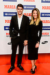 Real Madrid player Alvaro Morata with his girlfriend Alice Campello attends to the photocell of the Marca Awards 2015-2016 at Florida Park in Madrid. November 07, 2016. (ALTERPHOTOS/Borja B.Hojas)