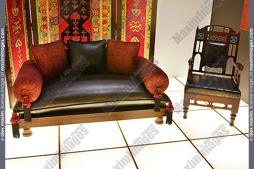 Furniture design in antique South Asian style