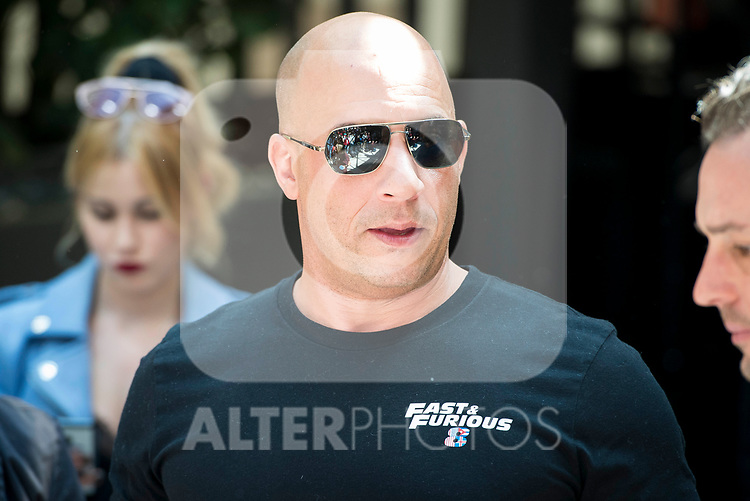 American actor Vin Diesel during the presentation of the film &quot;Fast &amp; Furious 8&quot; at Hotel Villa Magna in Madrid, April 06, 2017. Spain.<br /> (ALTERPHOTOS/BorjaB.Hojas)