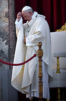 Pope Francis the Feast of Corpus Christi in the parish of Saint Mary Consoler in Rome's Casal Bertone neighborhood on June 23, 2019.