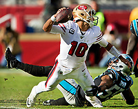 The Carolina Panthers v. The San Francisco 49ers, during their NFL game at Levi's Stadium in Santa Clara, Ca, Sunday afternoon October 27th, 2019.<br /> <br /> Charlotte Photographer - PatrickSchneiderPhoto.com