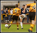 24/8/02         Copyright Pic : James Stewart                     .File Name : stewart-alloa v falkirk 05.ANDY LAWRIE FIRES HOME FALKIRK'S SECOND GOAL....James Stewart Photo Agency, 19 Carronlea Drive, Falkirk. FK2 8DN      Vat Reg No. 607 6932 25.Office : +44 (0)1324 570906     .Mobile : + 44 (0)7721 416997.Fax     :  +44 (0)1324 570906.E-mail : jim@jspa.co.uk.If you require further information then contact Jim Stewart on any of the numbers above.........
