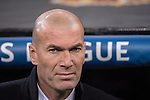Coach Zinedine Zidane of Real Madrid before the match Real Madrid vs Napoli, part of the 2016-17 UEFA Champions League Round of 16 at the Santiago Bernabeu Stadium on 15 February 2017 in Madrid, Spain. Photo by Diego Gonzalez Souto / Power Sport Images