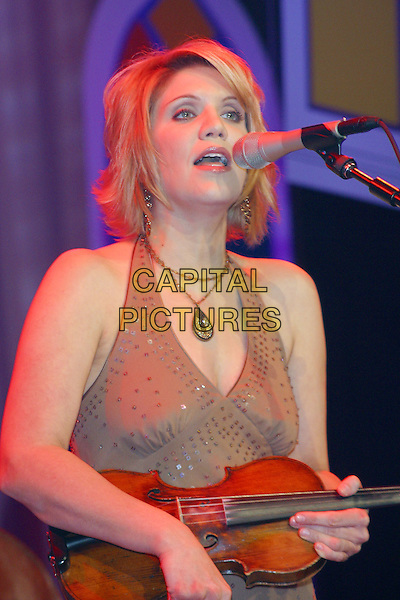 October 27, 2005 - International Bluegrass Music Association (IBMA) Awards - Ryman Auditorium, Nashville, Tennessee - Alison Krauss co-hosted the awards show as well as performing on it..Photo Credit: Randi Radcliff/AdMedia