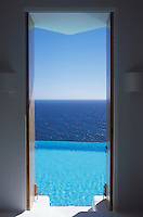 A view from one of th bedrooms of one of the houses for rent in Careyes. Costalegre, Jalisco, Mexico