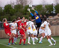Adrianna Franch (24) of the Western NY Flash makes a save during the game at the Maryland SoccerPlex in Boyds, MD.  Washington tied Western NY, 1-1.