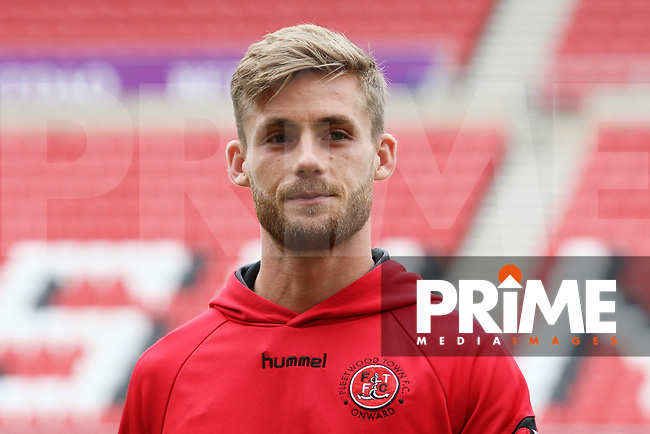 Fleetwood Town's Ashley Eastham before the Sky Bet League 1 match between Sunderland and Fleetwood Town at the Stadium Of Light, Sunderland, England on 8 September 2018. Photo by Stephen Hadlow/MI News & Sport/PRiME Media Images.