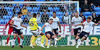 Bolton Wanderers' Jack Hobbs clears in defence<br /> <br /> Photographer Andrew Kearns/CameraSport<br /> <br /> The EFL Sky Bet Championship - Bolton Wanderers v Blackburn Rovers - Saturday 6th October 2018 - University of Bolton Stadium - Bolton<br /> <br /> World Copyright © 2018 CameraSport. All rights reserved. 43 Linden Ave. Countesthorpe. Leicester. England. LE8 5PG - Tel: +44 (0) 116 277 4147 - admin@camerasport.com - www.camerasport.com