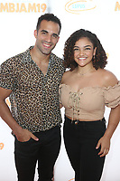 27 July 2019 - Hollywood, California - Danell Leyva, Laurie Hernandez. Michael B. Jordan And Lupus LA Present 3rd Annual MBJAM19 held at Dave & Busters. Photo Credit: FSadou/AdMedia