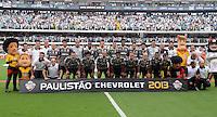 Santos SP, 19 maio 2013 - SANTOS X CORINTHIANS  - Jogadores do Corinthians  durante partida da final do campeonato paulista de 2013  no Estadio da Vila Belmiro em Santos, Litoral de  de Sao Paulo, neste domingo , 19. (FOTO: ALAN MORICI / BRAZIL PHOTO PRESS).