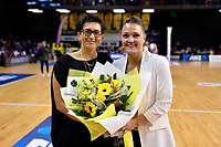 Pulse Coach Yvette McCausland-Durie and CEO Fran Scholey, ANZ Premiership - Pulse v Stars at TSB Arena, Wellington, New Zealand on Monday 13 May 2019. <br /> Photo by Masanori Udagawa. <br /> www.photowellington.photoshelter.com