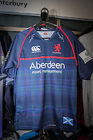 Club merchandise ahead of Round 2 of the British & Irish Cup match between London Scottish Football Club and Ulster 'A' at Richmond Athletic Ground, Richmond, United Kingdom on 22 October 2016. Photo by David Horn.