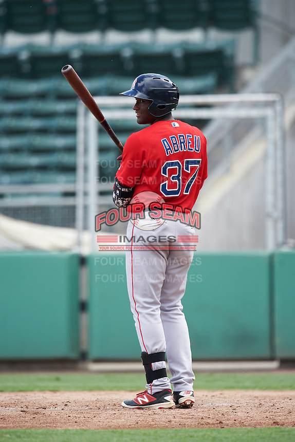Boston Red Sox Juan Carlos Abreu (37) during an Instructional League game against the Minnesota Twins on September 23, 2016 at JetBlue Park at Fenway South in Fort Myers, Florida.  (Mike Janes/Four Seam Images)