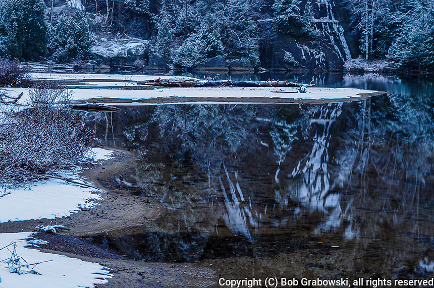 Reflections in Chapel Pond in the High Peaks Region in the Adirondack Mountains o New York State