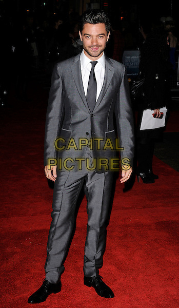 "DOMINIC COOPER .At The Times BFI 53rd London Film Festival Gala Screening of ""An Education"" at the Vue West End, Leicester Square, London, England, UK, October 20th 2009..full length grey gray white shirt suit black tie facial hair beard .CAP/CAN.©Can Nguyen/Capital Pictures."