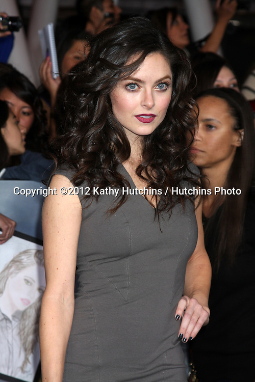 """LOS ANGELES - NOV 12:  Brooke Lyons arrive to the 'The Twilight Saga: Breaking Dawn - Part 2"""" Premiere at Nokia Theater on November 12, 2012 in Los Angeles, CA"""
