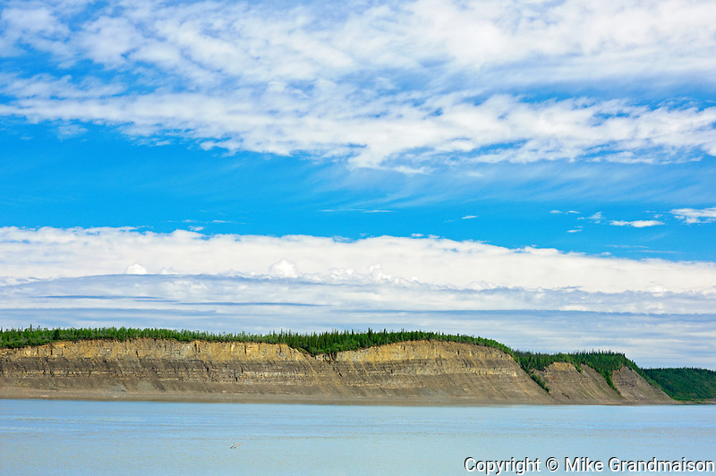 Arctic Red River (Mackenzie River). About 130 Kms south of Inuvik<br /> Dempster Highway<br /> Northwest Territories<br /> Canada