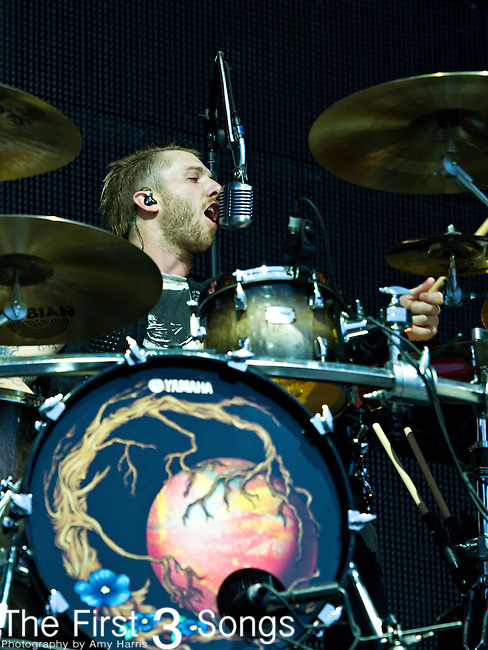 Neil Sanderson of Three Days Grace performs during the The Beale Street Music Festival in Memphis, Tennessee.