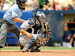 11 March 2008: Detroit Tigers' catcher Dane Sardinha in action during a Spring Training game against the Cleveland Indians at Chain of Lakes Park, in Winter Haven Florida. The Tigers rallied to defeat the Indians 4-2 in the Grapefruit League matchup...Mandatory Photo Credit: Ed Wolfstein Photo