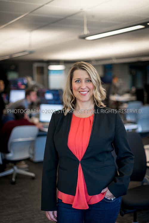 10/26/2016-- Redmond, WA, USA<br /> <br /> Sonja Kellen, Global Benefits Director at Microsoft.<br /> <br /> Posing in Microsoft&rsquo;s trading room on the Redmond, Washington campus.<br /> <br /> Photograph by Stuart Isett. &copy;2016 Stuart Isett. All rights reserved.
