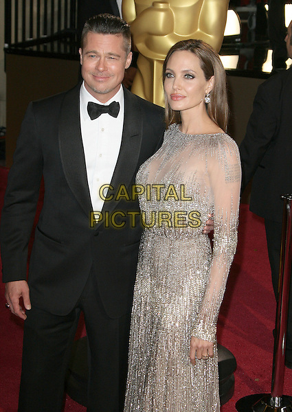 02 March 2014 - Hollywood, California - Brad Pitt, Angelina Jolie. 86th Annual Academy Awards held at the Dolby Theatre at Hollywood &amp; Highland Center.  <br /> CAP/ADM<br /> &copy;AdMedia/Capital Pictures