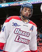 Joseph Pendenza (UML - 14) - The Northeastern University Huskies defeated the University of Massachusetts Lowell River Hawks 4-1 (EN) on Saturday, January 11, 2014, at Fenway Park in Boston, Massachusetts.