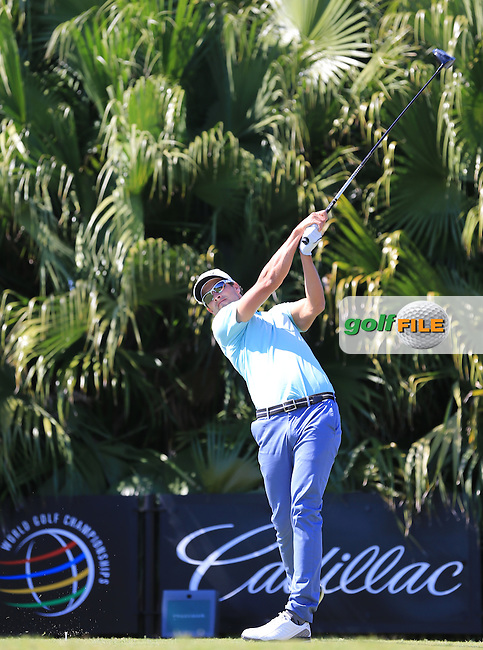Adam Scott (AUS) on the 8th during day one at the WGC Cadillac championship at Doral Golf Resort & Spa,Doral, Florida,USA..Picture: Fran Caffrey / www.golffile.ie ..