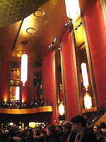 Interior shot of Radio City Music Hall Lobby, New York, before the Furthur Concert 24 February 2010
