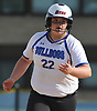 Ava Shorr #22, North Babylon pitcher, pulls into second base after connecting for an RBI double to deep left field in the bottom of the third inning of a Suffolk County League V varsity softball game against West Islip at North Babylon High School on Wednesday, May 9, 2018. North Babylon won by a score of 4-1.