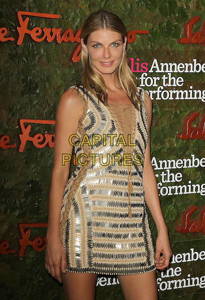 Angela Lindvall<br /> Wallis Annenberg Center For The Performing Arts Inaugural Gala held at Wallis Annenberg Center For The Performing Arts,  Beverly Hills, California, USA, 17th October 2013.<br /> half length silver beige nude dress <br /> CAP/ADM/KB<br /> &copy;Kevan Brooks/AdMedia/Capital Pictures