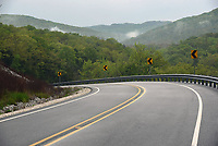 Tight curves and switchbacks are typical of Arkansas 220, a scenic 17-mile route between Arkansas 59 and Devil's Den State Park.<br />