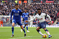Danny Rose of Tottenham Hotspur and Rachid Ghezzal of Leicester City during Tottenham Hotspur vs Leicester City, Premier League Football at Wembley Stadium on 10th February 2019