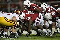 4 November 2006: Levirt Griffin, Fred Campbell, Michael Okwo and Clinton Snyder during Stanford's 42-0 loss to USC at Stanford Stadium in Stanford, CA.