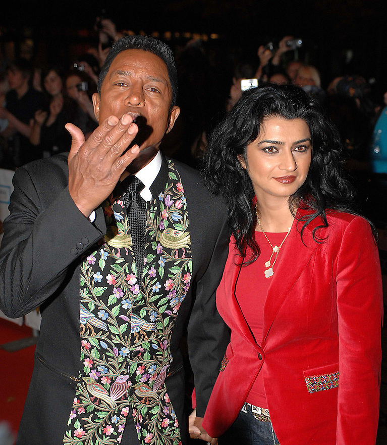 Glasgow Mobo Awards .....Jermaine Jackson and his wife Halima Rashid arrive on the red carpet.......