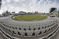 A view of Lords Cricket Ground from the Tavern Stand during Middlesex CCC vs Lancashire CCC, Specsavers County Championship Division 2 Cricket at Lord's Cricket Ground on 12th April 2019