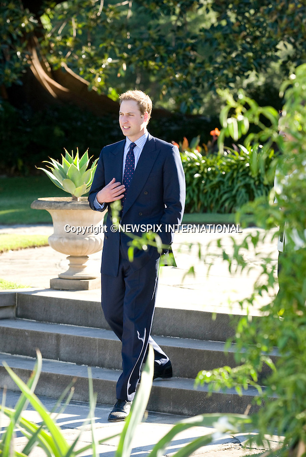 """PRINCE WILLIAM.Prince William on the first day of his tour in Australia visited the residence of The New South Wales Governor Professor Marie Bashir. Sydney, Australia_19/01/2010...Mandatory Credit Photo: ©DIAS-NEWSPIX INTERNATIONAL..**ALL FEES PAYABLE TO: """"NEWSPIX INTERNATIONAL""""**..IMMEDIATE CONFIRMATION OF USAGE REQUIRED:.Newspix International, 31 Chinnery Hill, Bishop's Stortford, ENGLAND CM23 3PS.Tel:+441279 324672  ; Fax: +441279656877.Mobile:  07775681153.e-mail: info@newspixinternational.co.uk"""