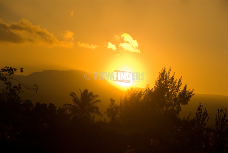 Hawaiian landscape at sunrise