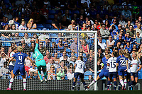 Tottenham Hotspur Women's goalkeeper, Becky Spencer makes a fine save to foil a Chelsea attack during Chelsea Women vs Tottenham Hotspur Women, Barclays FA Women's Super League Football at Stamford Bridge on 8th September 2019