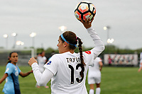 Piscataway, NJ - Sunday April 30, 2017: Brittany Taylor during a regular season National Women's Soccer League (NWSL) match between Sky Blue FC and FC Kansas City at Yurcak Field.