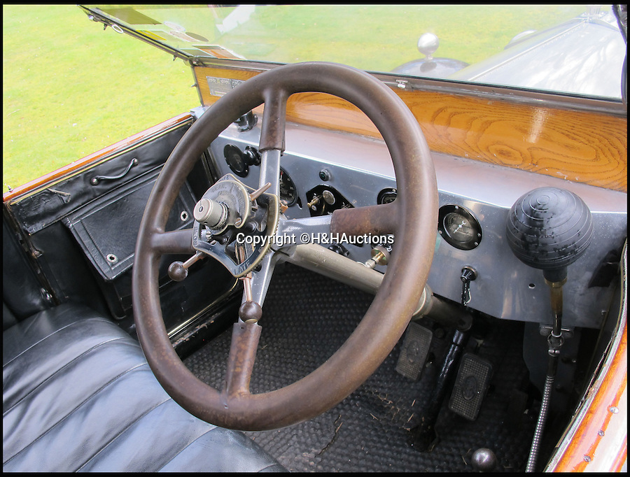 BNPS.co.uk (01202 558833)<br /> Pic: H&amp;H/BNPS<br /> <br /> Chauffers seat.<br /> <br /> Rolls Royce Silver Ghost with a racey royal past.<br /> <br /> A Rolls-Royce car thought to have been used by controversial monarch Edward VIII to sneak his lover Wallis Simpson in and out of Royal estate Balmoral has emerged for sale for &pound;120,000.<br /> <br /> It is rumoured that Edward, who sparked a constitutional meltdown in 1936 when he abdicated the throne to be with the the American divorcee, had blinds fitted to the rear of the specially-built motor so they could travel without being spotted.<br /> <br /> The Silver Ghost car was a year old in 1922 when Edward, then the Prince of Wales, bought it to go on shooting parties at the Royal family's Highlands retreat.<br /> <br /> It is thought that at some point before becoming king and then abdicating the throne in 1936, Edward fitted blinds to the rear compartment of the car for privacy on romantic breaks to Balmoral with Simpson.<br /> <br /> It is tipped to fetch &pound;120,000 when it goes under the hammer at H &amp; H Classics.