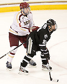 Patrick Wey (BC - 6), Chris Rooney (PC - 21) - The Boston College Eagles defeated the Providence College Friars 7-0 on Saturday, February 25, 2012, at Kelley Rink at Conte Forum in Chestnut Hill, Massachusetts.