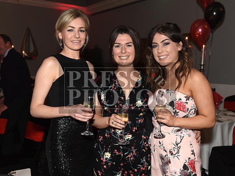 Sinead Kerbey, Marguerite and Saorlaith Dawe at the Dreadnots GFC annual Dinner in the Westcourt Hotel. Photo:Colin Bell/pressphotos.ie