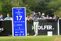Jack Singh Brar (ENG) tees off the 17th tee during Sunday's Final Round of the Northern Ireland Open 2018 presented by Modest Golf held at Galgorm Castle Golf Club, Ballymena, Northern Ireland. 19th August 2018.<br /> Picture: Eoin Clarke | Golffile<br /> <br /> <br /> All photos usage must carry mandatory copyright credit (&copy; Golffile | Eoin Clarke)