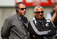 Coaches Grant Hansen and Paul Martin during the International rugby match between New Zealand Secondary Schools and Suncorp Australia Secondary Schools at Yarrows Stadium, New Plymouth, New Zealand on Friday, 10 October 2008. Photo: Dave Lintott / lintottphoto.co.nz