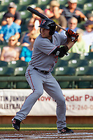 Fresno Grizzlies outfielder Roger Kieschnick #39 at bat during the Pacific Coast League baseball game against the Round Rock Express on May 19, 2012 at The Dell Diamond in Round Rock, Texas. The Grizzlies defeated the Express 10-4. (Andrew Woolley/Four Seam Images)